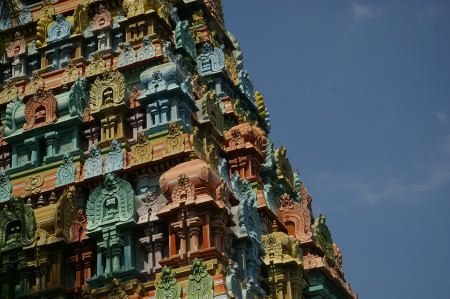 Close up of a gopuram